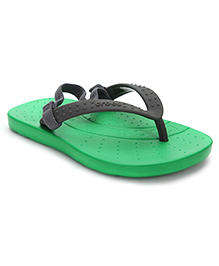 Crocs Flip Flops With Back Strap - Green