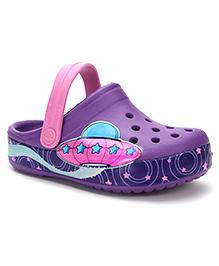 Crocs Clogs Spaceship Print - Purple Pink