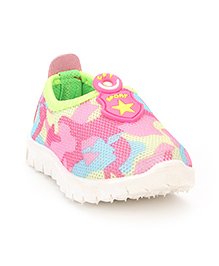 Cute Walk Slip-On Casual Shoes Star Patch - Pink