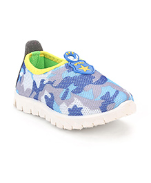 Cute Walk Slip-On Casual Shoes Star Patch - Blue