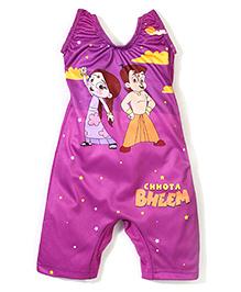 Chhota Bheem Printed Legged Swim Suit - Purple