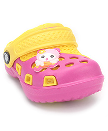 Cute Walk Clogs With Back Strap - Pink Yellow