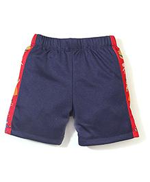 Chhota Bheem Side Stripes Printed Swim Trunks Shorts - Navy Blue & Red