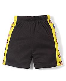 Chhota Bheem Side Stripes Printed Swim Trunks Shorts - Black & Yellow