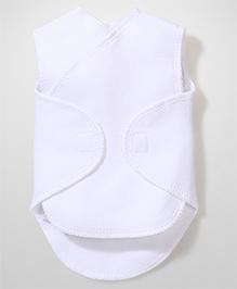 Dear Tiny Baby Wrap Vest - White