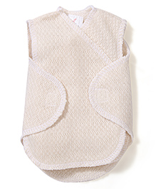 Dear Tiny Baby Wrap Vest - Beige