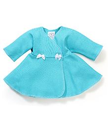 Dear Tiny Baby Wrap Dress - Aqua Blue