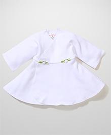 Dear Tiny Baby Wrap Dress - White