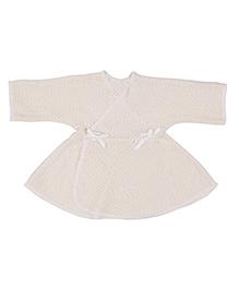 Dear Tiny Baby Wrap Dress - Beige