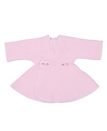 Dear Tiny Baby Long Sleeves Wrap Dress - Pink