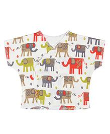 Dear Tiny Baby Short Sleeves Vest - Multi Color