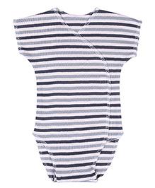 Dear Tiny Baby Short Sleeves Onesies - Grey & Black