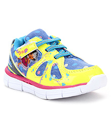 Dora Casual Shoes Velcro Closure - Yellow Blue