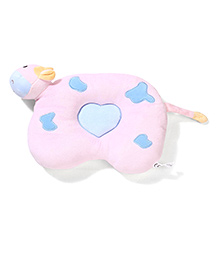 Hippo Design Baby Pillow - Pink