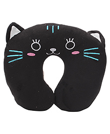 Animal Face Neck Support Pillow - Black