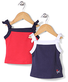 Mothercare Slip Pack Of 2 - Navy Blue And Red