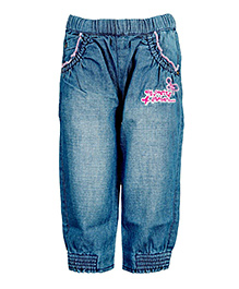 Tales & Stories Trouser Embroidery - Blue