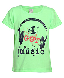 Tales And Stories Graphic Printed T-Shirt - Neon Green