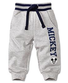 Disney by Babyhug Mickey Print Track Pant - Grey
