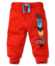 Disney by Babyhug McQueen 95 Print Track  Pant - Red