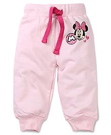 Disney by Babyhug Minnie Print Track Pant - Light  Pink