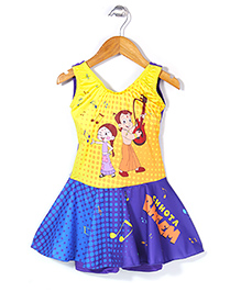 Chhota Bheem Frock Style Swim Wear - Blue & Yellow