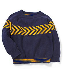 Mothercare Full Sleeves Chevron Sweater - Navy Blue