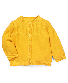 Mothercare Full Sleeves Sweater - Golden