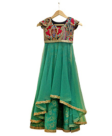 April Daisy by Nehal Mehta Floor Length Anarkali - Multicolor