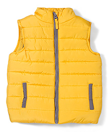 Mothercare Sleeveless Jacket - Yellow