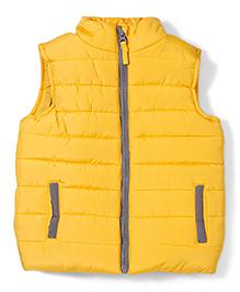 Mothercare Sleeveless Jacket - Yellow