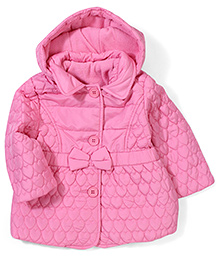 Mothercare Quilted Hooded Jacket - Pink
