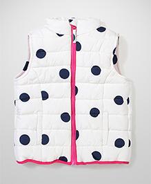 Mothercare Sleeveless Polka Print Jacket - Cream