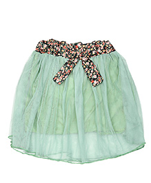 Superfie Flared Skirt - Green