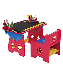 Alex Toys Wooden My Art Desk - Red And Black