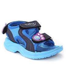 Footfun Sandals With Velcro Closure - Blue