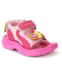 Footfun Sandals With Velcro Closure - Pink