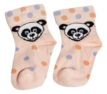 Cotton Socks - White Panda
