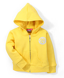 Vitamins Hooded Full Sleeves Sweat Jacket - Yellow