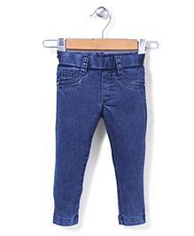 Vitamins Pull On Denim Jeans -  Blue