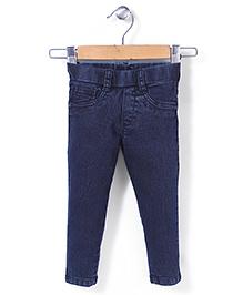 Vitamins Pull On Denim Jeans - Dark Blue