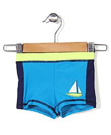 Mothercare Swim Shorts Boat Print - Dark Blue