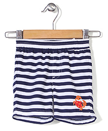 Mothercare Striped Swim Shorts - White And Navy Blue