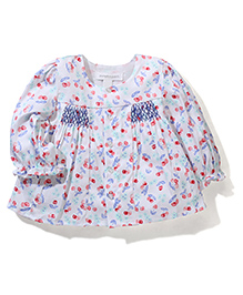 Pumpkin Patch Full Sleeves Top Cherry Print - White