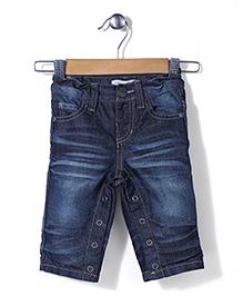 Pumpkin Patch Romper Style Jeans - Blue