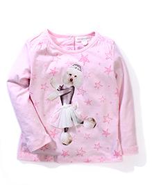 Pumpkin Patch Party Wear Top Puppy Print - Pink