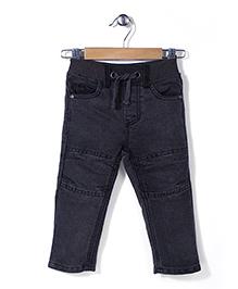 Pumpkin Patch Denim Jeans With Drawstring - Dark Grey