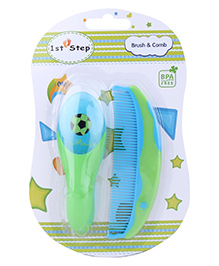 1st Step Brush And Comb Set - Green and Blue