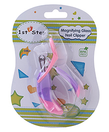 1st Step Nail Clipper with Magnifier - Pink and Purple