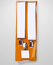Kid-o-nation Broad Strap Suspenders - White